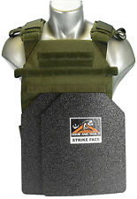 CATI Body Armor Bullet Proof Vest AR500 Steel Plates Base Coating Sentry OD