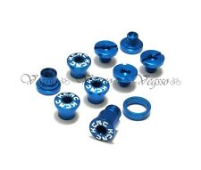 NEW KCNC AL7075 CRANK CHAINRING BOLTS SCREWS FOR CAMPAGNOLO CAMPY, BLUE