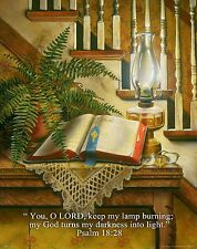 Religious Motivational Poster Print Art Jesus Bible Psalm 18:28 11x14   RELG11
