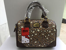 Loungefly Hello Kitty Pale Chocolate Leopard Mini Convertible Bag