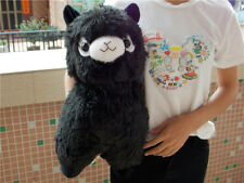 New Alpacasso Black Alpaca Plush Amuse Arpakasso Fluffy Toy Gift Large 45cm