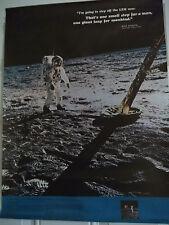 Vintage Rand McNally Apollo 11 Armstrong Aldrin Collins Poster ~ Preloved!!
