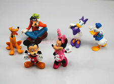 6pcs Set Disney Mickey Mouse Figures Minnie Donald Cake Topper Clubhouse