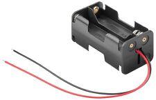 S633 - 2 Stück Batteriehalter 4x Mignon AA Batterie Batteriefach offen mit Kabel