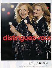 Publicité Advertising 2012  Montre LOUIS PION  joaillerie bijou collection mode