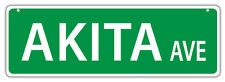 Plastic Street Signs: AKITA AVENUE | Dogs, Gifts, Decorations