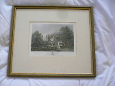 Engraving. Hand Coloured. Ewhurst Rectory. 1850. McKewen. Shury&Son Engravers.