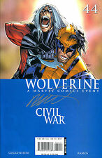 WOLVERINE #44 CIVIL WAR SIGNED BY ARTIST HUMBERTO RAMOS (LG)