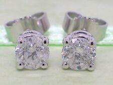 Diamant Brillant Ohrstecker 585 Weißgold 14Kt Gold 0,96ct Solitär Wesselton