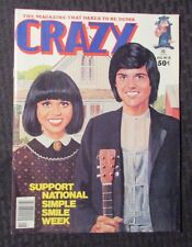 1977 CRAZY Magazine #28 VF- Donnie & Marie Parody