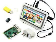 Raspberry Pi 2B + 7inch HDMI LCD (C) + Bicolor Case + 8GB SD Card +Power Adapter