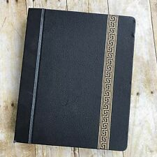 Vintage Black Scrap Book Photo Album Loose Leaf Scrapbook Empty Pages Antique