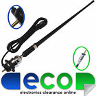 RMA305 Universal Car Stereo Radio Rubber Mast Wing Roof Chrome Antenna Aerial