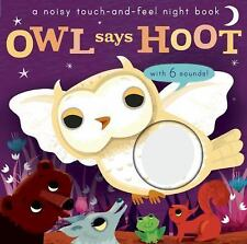 Noisy Touch and Feel: Noisy Touch and Feel: Owl Says Hoot by Libby Walden...