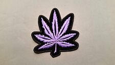 purple leaf weed embroidered marijuana iron on pot patch