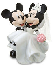 Disney Wedding Minnie Mickey Mouse Figurine Ceramic Cake Topper Theme Parks New