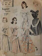 Vintage Vogue Pattern 5038 1960's Prom Day Summer Dress Size 12 Full Circle FF