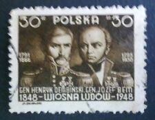POLAND-STAMPS Fi451 Sc430,430-32 Mi498 - People's Spring, 1948, used