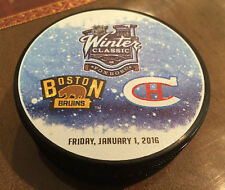 2016 Winter Classic Montreal Canadiens Boston Bruins Duel Logo Souvenir Puck NHL
