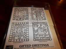 Stampin Up 1998 Gifted Greetings Baby-Birthday-Congratulations-For You unmounted