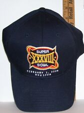 NEW WITH TAGS SUPERBOWL XXXVIII FEB 7, 2004 FOOTBALL BASEBALL STYLE CAP HAT