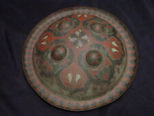 ANTIQUE INDO PERSIAN ISLAMIC BATTLE SHIELD DHAL EXCELLENT DETAILS INLAID COLORS