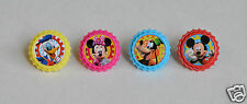 12 Mickey Mouse Clubhouse Cup Cake Rings Topper Party Goody Bag Favor Supply