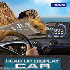 """5.5"""" Digital Head-Up Display Car HUD Projector Overspeed Warning Fuel OBD II A8"""