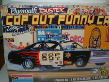1/24 MONOGRAM COP OUT PLYMOUTH DUSTER FUNNY CAR DRAGSTER PLASTIC KIT