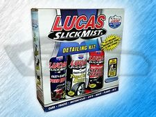 LUCAS SLICK MIST DETAILING KIT - BOX OF 3 BOTTLES - INCLUDES TOWEL & TIRE SPONGE