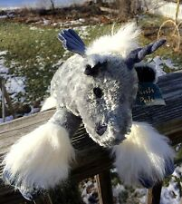 """Plush Pals Unicorn 15"""" Long Lying Down Silver Gray Lavender Wings Horn New w Tag"""
