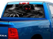 Skelleton Skull Rear Window Decal Sticker Pick-up Truck SUV Car