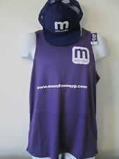 AWD IS - PURPLE SLEEVLESS MEN OF MEN T-SHIRT, FREE BASEBALL HAT100% POLY SIZE  L