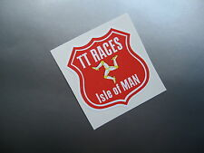 ISLE OF MAN TT RACES SHIELD style sticker/decal x2