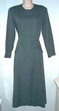 Sara Campbell NEW Vintage Green Tailored Long Dress Womens S M Modest