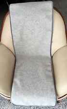 Sesselschoner in Wellenoptik silber 50x200 cm, Überwurf, 100%Wolle