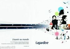 PUBLICITE ADVERTISING 126  2005  le Groupe Lagardère (2pages)