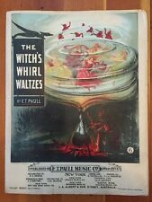 Witch's Whirl sheet music HALLOWEEN vintage ET Paull Witch Cauldron 1901