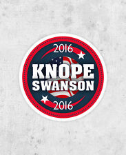 Knope Swanson 2016 Sticker! Parks and Recreation, Leslie Knope, Ron Swanson