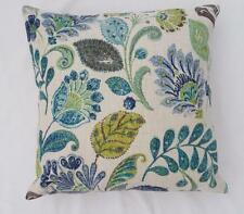 Divine Blues Teal Green Browns Linen Look Cushion Cover 45cm