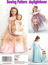 """Girl & 18"""" Doll Princess Fairy Dress Costumes 1305 Sewing Pattern Size 3-8 g"""