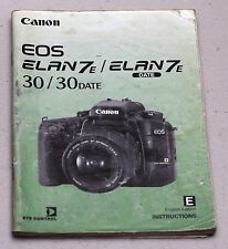 CANON EOS ELAN7E DATE Original Camera Guide Manual Instruction Photography Book