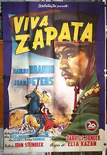 manifesto 4F film VIVA ZAPATA ! Marlon Brando Jean Peters Elia Kazan 1952 GM
