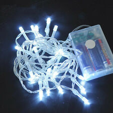 10/20/30/40/50/80 LEDs Weihnachten Party Batterie LED Lichterkette Kette Leuchte