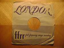 LONDON 10 INCH / 78 RPM RECORD SLEEVE/ VERY GOOD CONDITION/