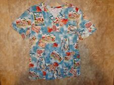 WHITE CROSS FALL WILDERNESS,CABINS SCRUB TOP SIZE XS (3 POCKETS) STYLE #610-FLE