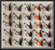 25 GROUSES TRADITIONAL SCOTTISH FLIES WETS HAND TIED TROUT FISHING FLY rod reel