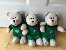 Starbucks 2016 Winter Bearista Bear with Green Apron Limited Edition Xmas Gift