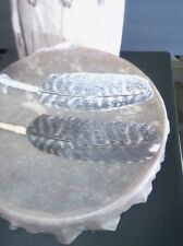 Native Smudge Prayer feather custom trim with fur  looks like young eagle/hawk