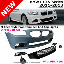 BMW F10 5-Series 11-13 W/ PDC M Sport Tech Style Front Bumper Cover Fog Light